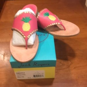 Jack Rogers Pineapple sandals size 11